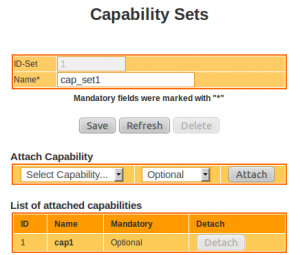 IMS Network Configuration : Capability Sets