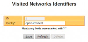 IMS Network Configuration : Visited Networks